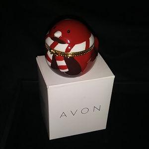 Avon CZ Stud Earrings In Keepsake Box Robin